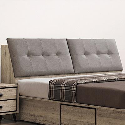 綠活居 利斯瑪時尚5尺亞麻布雙人床頭箱(不含床底)-152x32x101cm免組