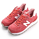 NewBalance-TIER 3 574女復古休閒鞋-紅