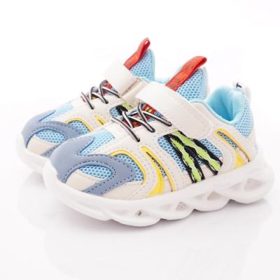 TOPUONE童鞋 LED炫彩電燈運動鞋 SI19559水(小童段)