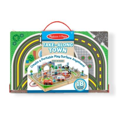 【Melissa & Doug瑪莉莎】交通工具 - 手提收納城市交通組