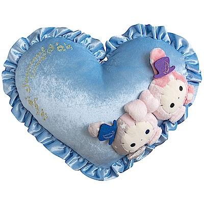 魔幻馬戲團藍鳥的寶石系列愛心絲絨抱枕San-X