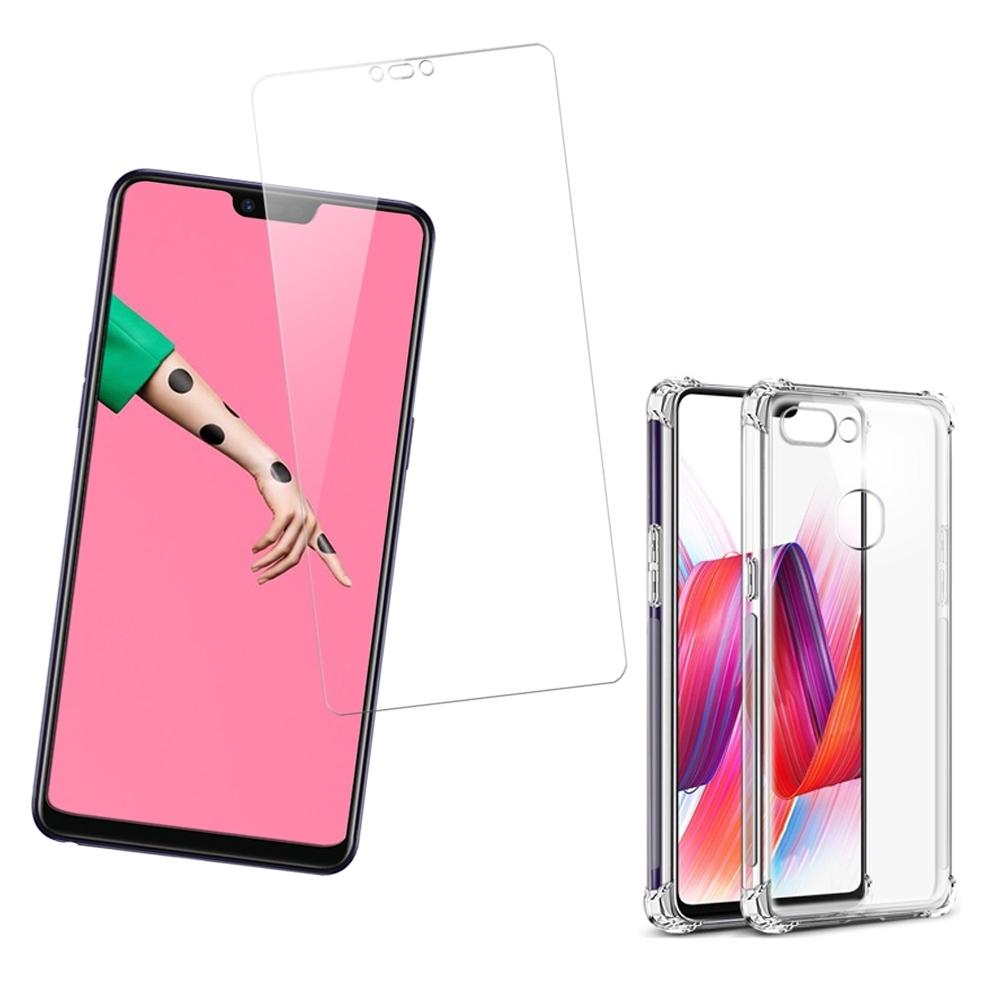 [買保護貼送手機殼] OPPO R15 c款 非滿版 高清透明 手機 保護貼 (OPPOR15保護貼 OPPOR15鋼化膜 )
