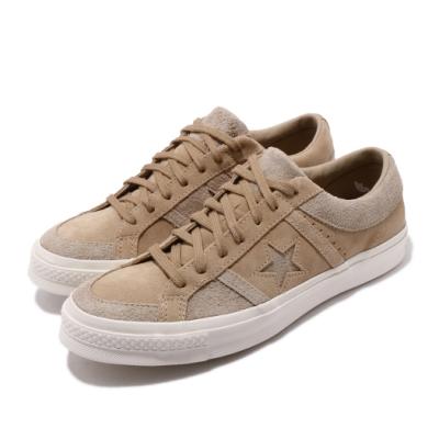 Converse 休閒鞋 One Star Academy 男女鞋 基本款 簡約 一顆星 情侶穿搭 麂皮 卡其 米白 167766C