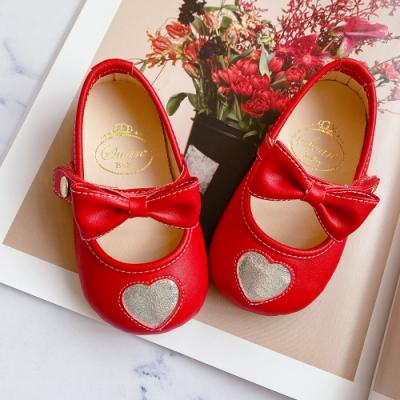 Swan天鵝童鞋-愛心學步寶寶鞋1613-紅