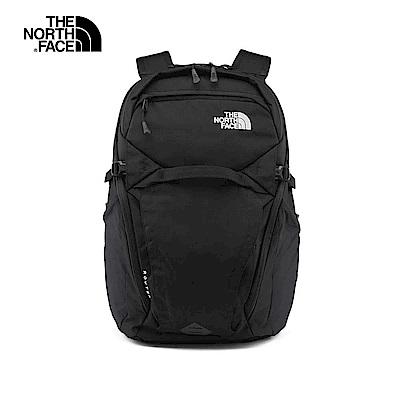 The North Face北面男女款黑色舒適防護休閒後背包|3ETUJK3
