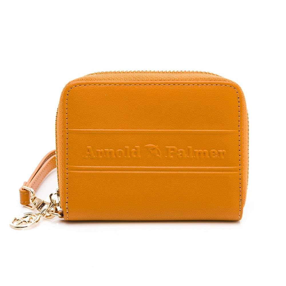 Arnold Palmer - ㄇ拉零錢包-附手挽帶 LASS系列 - 黃色