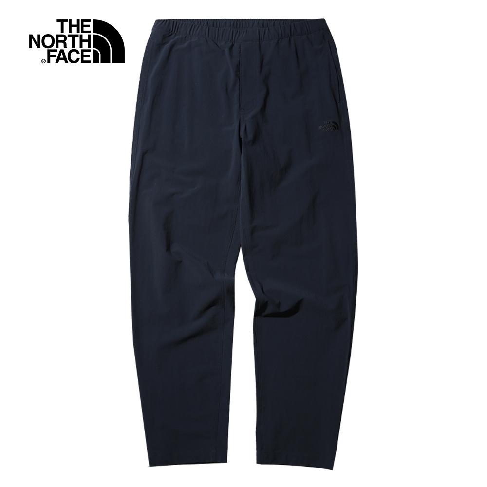 The North Face北面男款深藍色防風防潑水戶外休閒褲|4NEAH2G