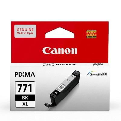 CANON CLI-771XL-BK 原廠相片黑高容量墨水匣