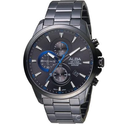 ALBA 雅柏 戰略神鷹計時腕錶(AM3663X1)黑/44mm