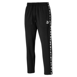 PUMA-男性基本系列Amplified短袖T恤-黑色-