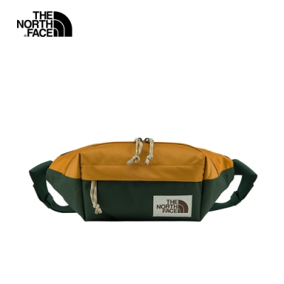 The North Face北面男女款綠棕色撞色拼接休閒腰包|3KY6YYK