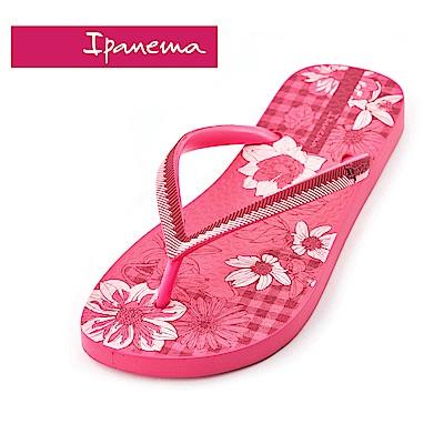 IPANEMA  FASHION系列 印花夾腳拖鞋-粉紅花朵