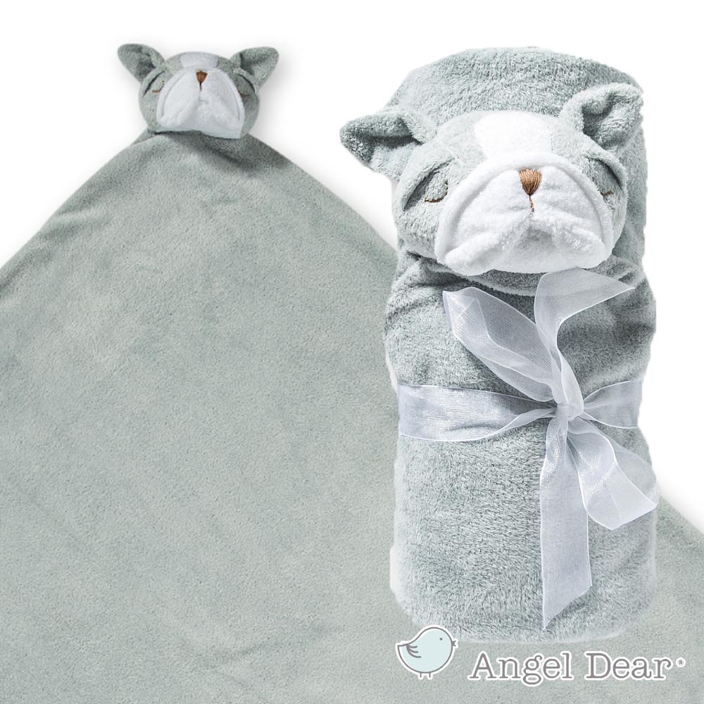 美國 Angel Dear 大頭動物嬰兒毛毯 (灰色鬥牛犬)