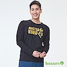 bossini男裝-印花長袖T恤02黑