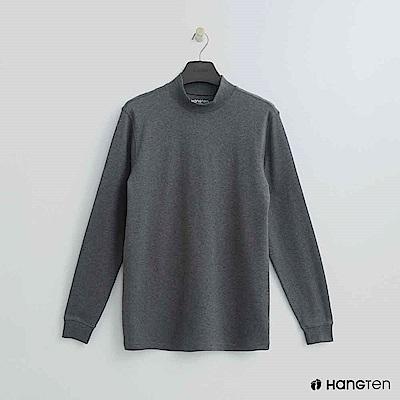 Hang Ten - 男裝 - 立領質感純色上衣 - 灰