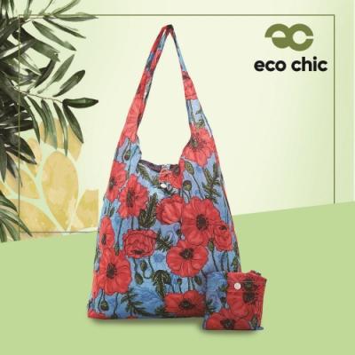 【英國ECO】時尚摺疊購物袋-罌粟花(100%再生環保纖維布料)(快)