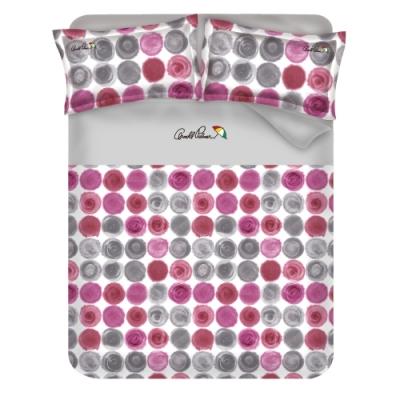 Arnold Palmer雨傘牌 粉樣小調-台製40紗精梳棉床包枕套雙人加大三件組