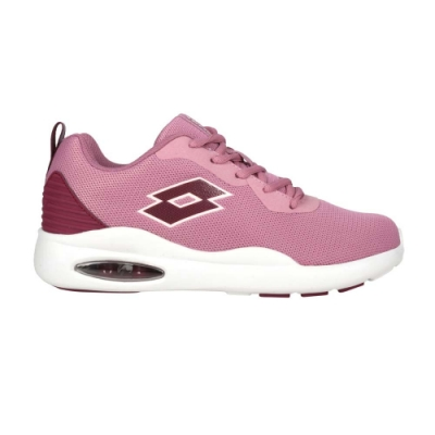 LOTTO 女輕氣墊跑鞋-避震 反光 輕量 慢跑 運動 LT0AWR2113 粉紫葡萄紫