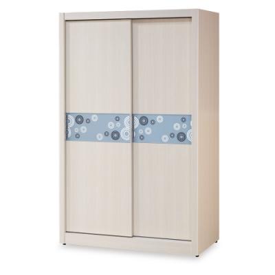 時尚屋  尤諾白雪杉4X7尺衣櫃 寬121x深60.5x高197cm