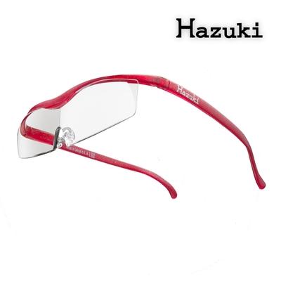 【Hazuki】日本Hazuki葉月透明眼鏡式放大鏡1.6倍標準鏡片(亮紅)