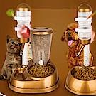 DYY》一兼二顧調整型兩用相好飲水餵食器(顏色隨機出貨)