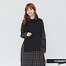 H:CONNECT 韓國品牌 女裝-兩件式格紋襯衫洋裝-藍