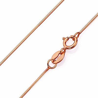 Angel 宮廷金繽高質感電鍍金屬細項鍊 玫瑰金色