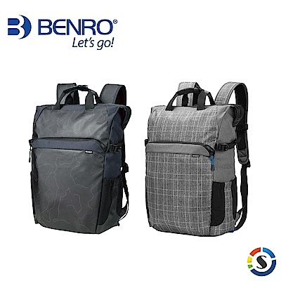 BENRO百諾 Colorful100 炫彩系列後背包(黑/灰)