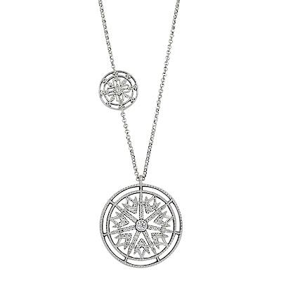 apm MONACO法國精品珠寶 閃耀銀色鑲鋯PROTECTION項鍊
