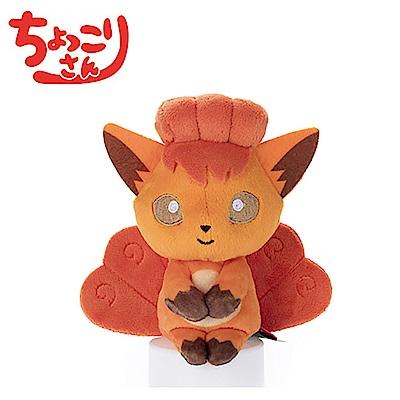 日本正版授權 寶可夢 六尾  排排坐玩偶 拍照玩偶 289316