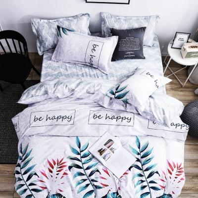 Grace Life 花中尋覓 單人柔絲絨涼被床包三件組