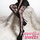 歐系英倫情人 格狀 連身網襪 棉花甜