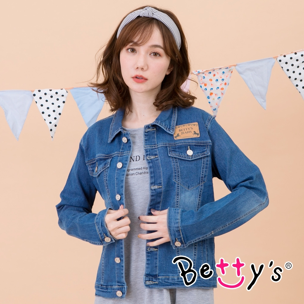 betty's貝蒂思 經典修身牛仔外套(牛仔藍) product image 1