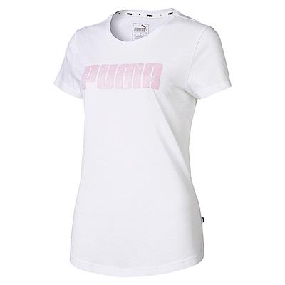 PUMA-女性基本系列KA短袖T恤-白色-亞規