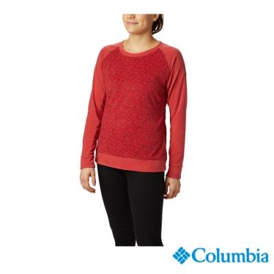 Columbia 哥倫比亞  女款-刷毛長袖上衣-紅色 UAK10820RD