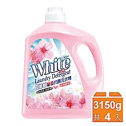 白帥帥 馨香抗菌洗衣精 浪漫櫻花-3150gx4瓶