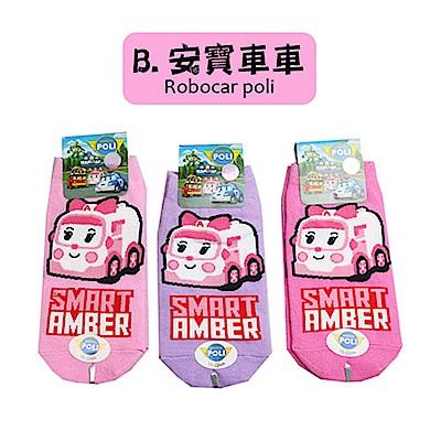 (任選)台灣製造卡通直版襪1雙(安寶車車系列)