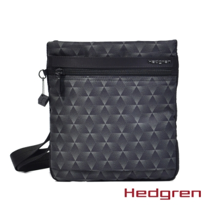 【Hedgren】闇黑漸層三角輕旅行側背包-HIC112