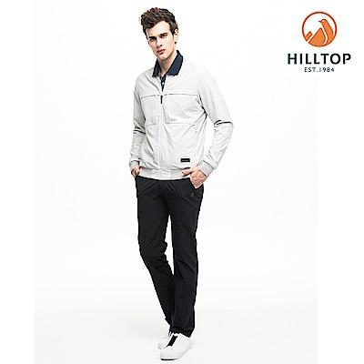 【hilltop山頂鳥】男款超潑水彈性抗UV雙面穿外套S02M94風鈴灰