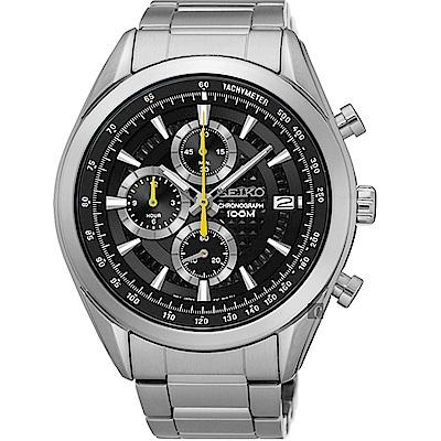 SEIKO 精工飆速快感大錶徑運動腕錶/45MM/黑/8T67-00A0Y/SSB175P
