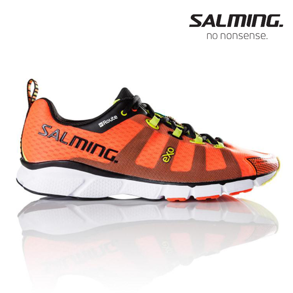 Salming ENROUTE 寬楦 男訓練慢跑鞋 桔
