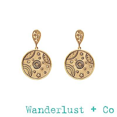 Wanderlust+Co星軌耳環 - 金色