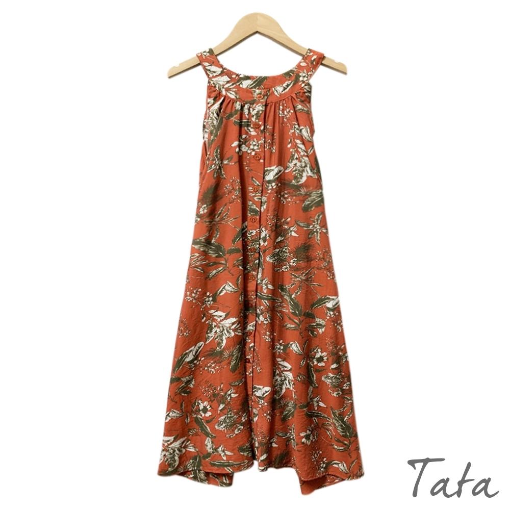 削肩印花雪紡洋裝 共二色 TATA-F