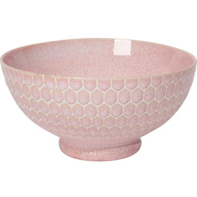 《NOW》瓷製餐碗(粉蜂巢15.5cm)