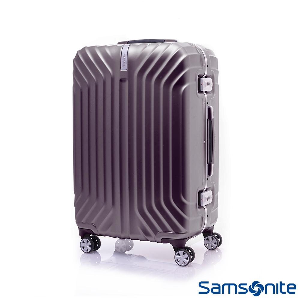 Samsonite新秀麗 23吋Tru-Frame PC時尚硬殼鋁框行李箱(碳黑)