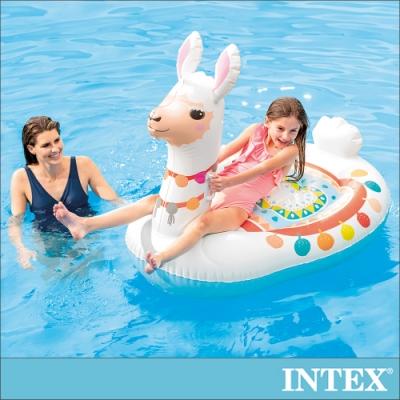 INTEX 羊駝造型座騎/戲水二用 適用3歲+(57564)