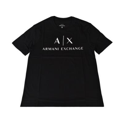 A│X Armani Exchange經典字母LOGO造型純棉短T(XS/S/M/黑x白字)