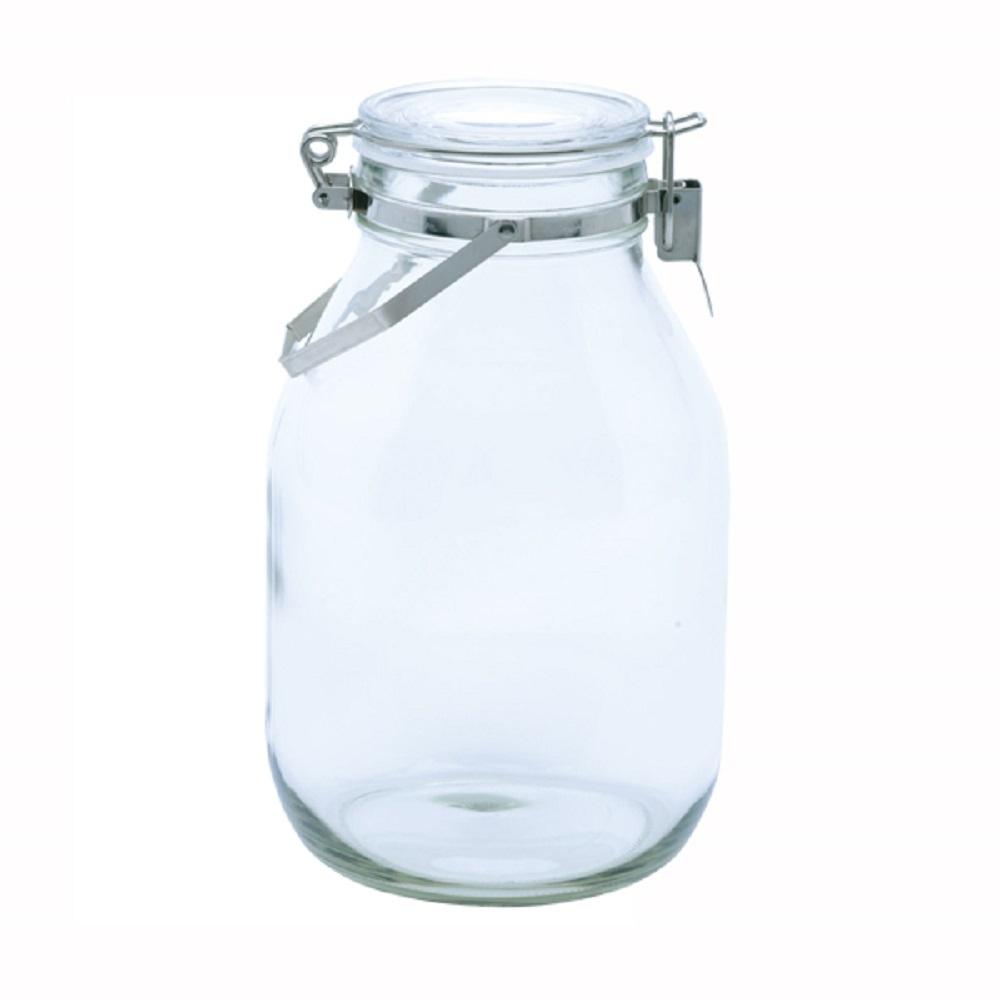 日本 星硝Cellarmate不鏽鋼把手式玻璃密封瓶3L
