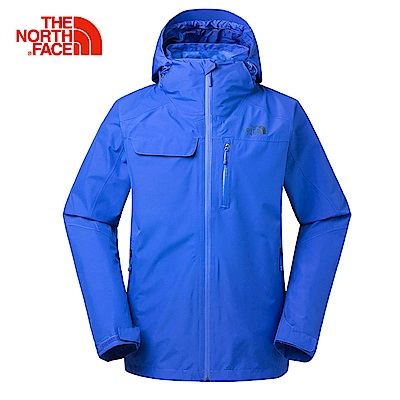 The North Face北面男款藍色防水透氣外套|3KT21SN