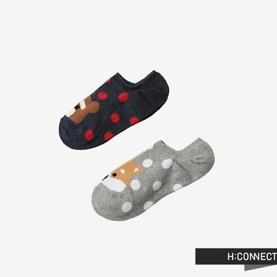 H:CONNECT 韓國品牌 女裝 -可愛動物圓點女隱形襪組